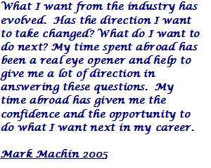 Mark Machin 2005 Quote