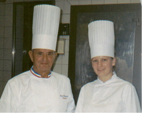 Magalie Leray 2003 with Paul Bocuse