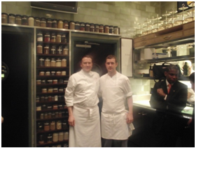 Martin Evans 2009 with Chef Eric at Restaurant Daniel